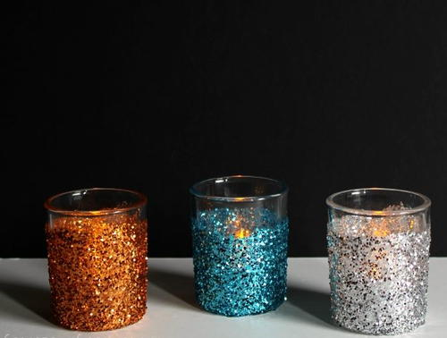 Glittery DIY Candle Holders