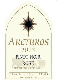 Black Star Farms Arcturos Pinot Noir Rose 2014