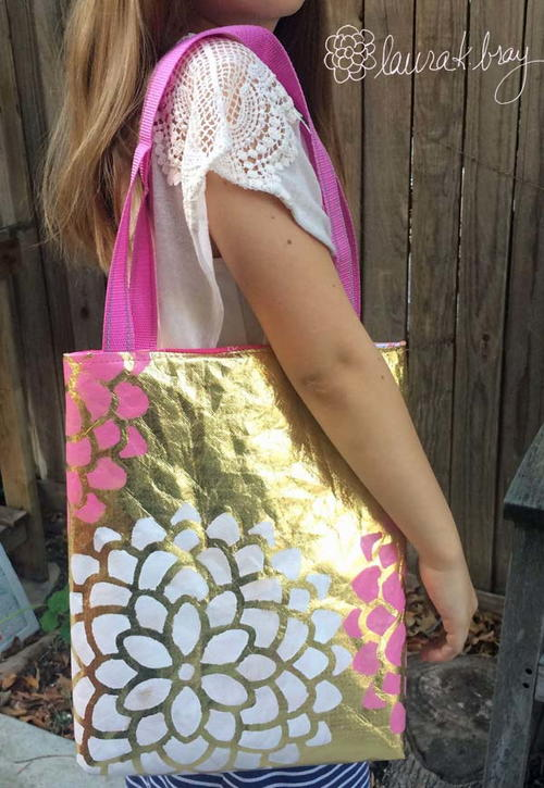 Metallic DIY Tote Bag
