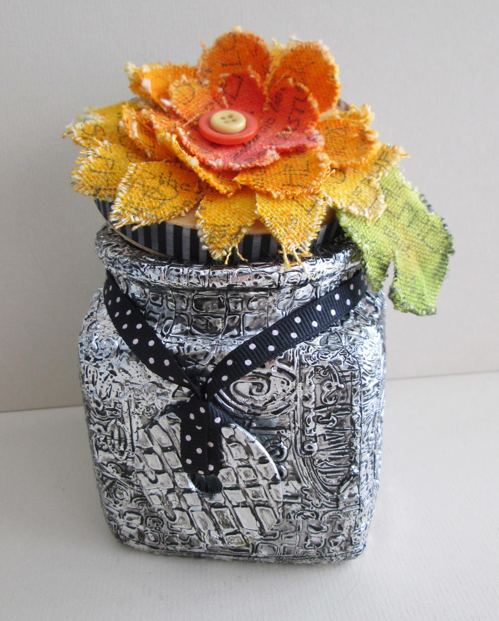 Mixed Media Embossed Decor FaveCrafts