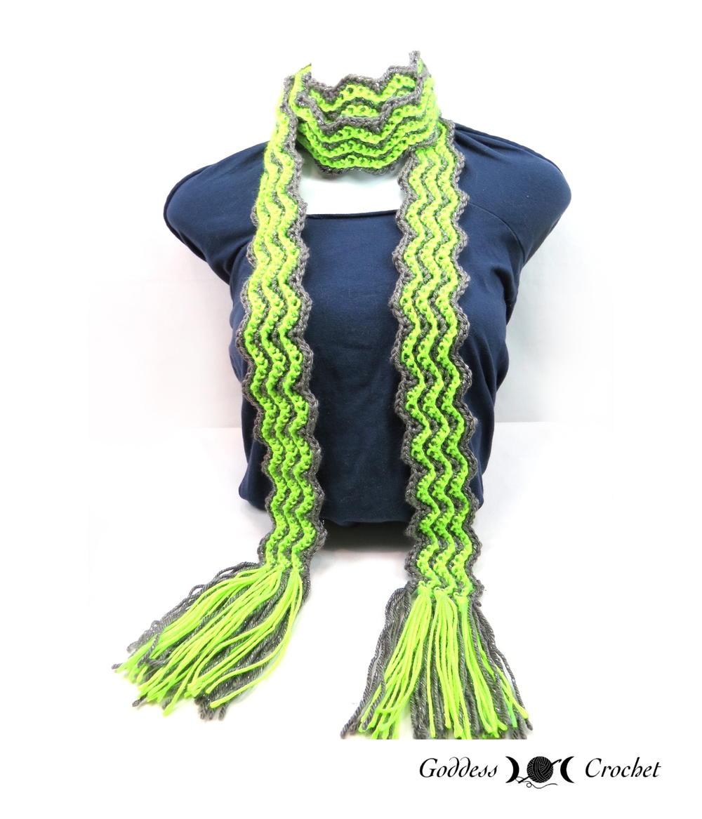 ripples scarf allfreecrochet