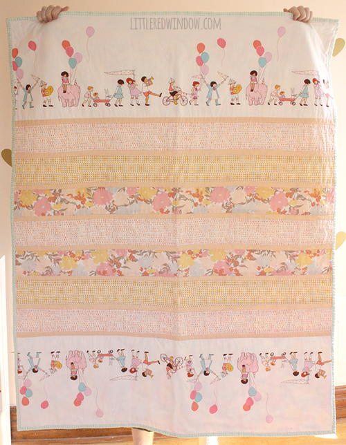 Simple Strip Baby Quilt Pattern