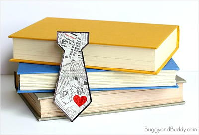 To-Tie-For Fathers Day Bookmark