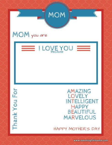 Marvelous Mothers Day Printable