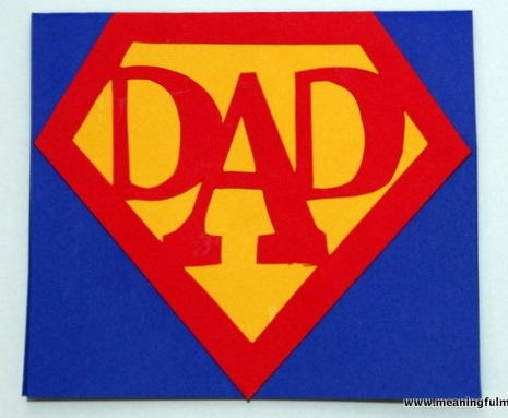 Superhero Fathers Day Card