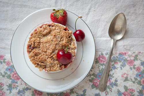 Spring Fruit Nutty Crumble