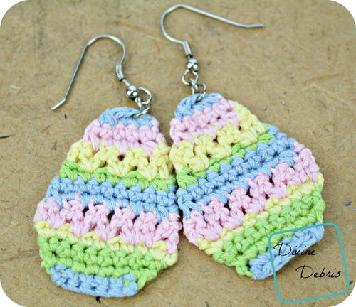 Easter Egg Crochet Earrings