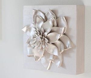 Fancy D Flower DIY Wall Art