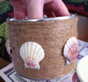 Beachy Tin Can Craft