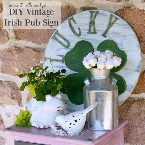 DIY Vintage Irish Pub Sign