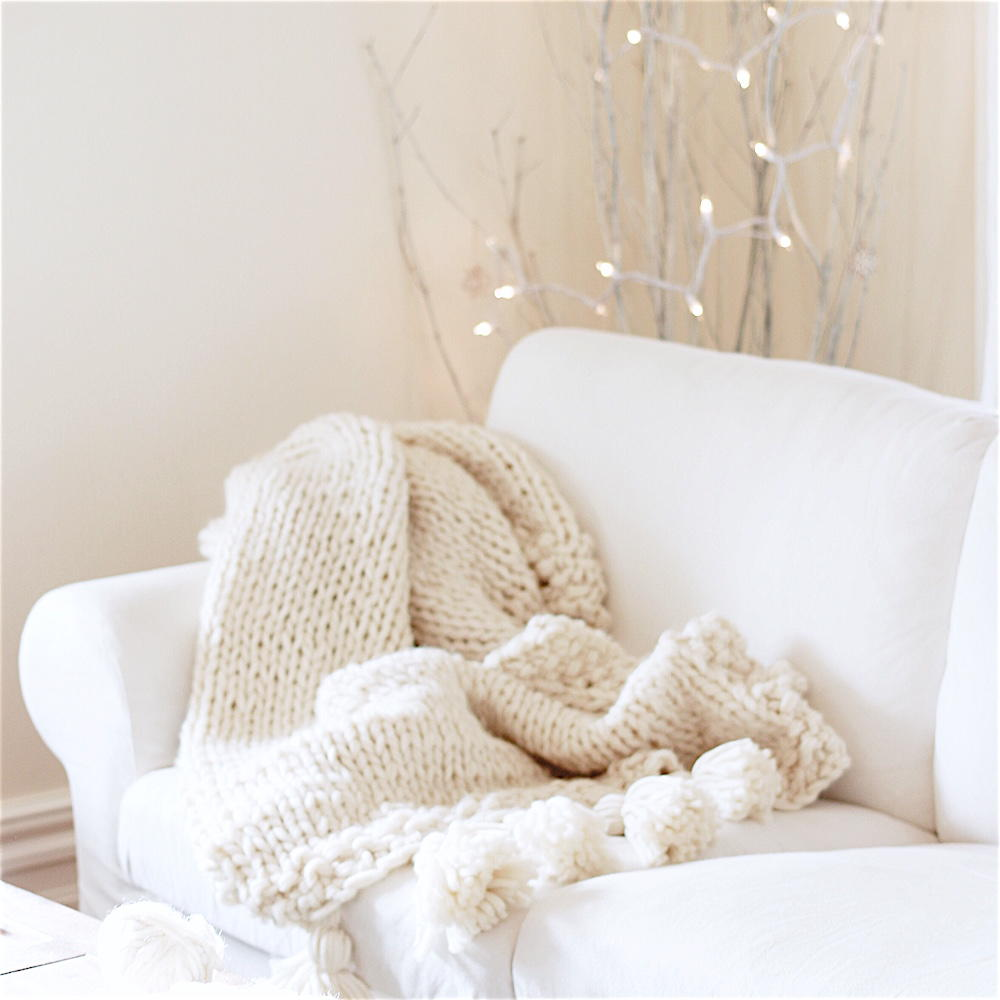 Knitting Wool Blanket : Chunky wool blanket allfreeknitting