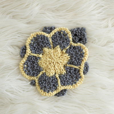 Cute Turtle Coaster Knitting Pattern