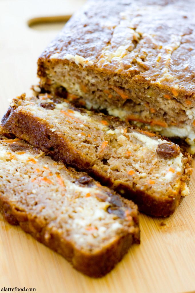 Cheesecake Stuffed Carrot Bread Recipe