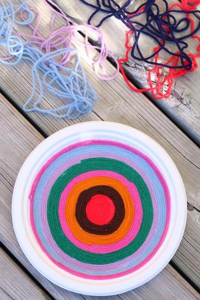 OMG Color Yarn Art | AllFreeKidsCrafts.com