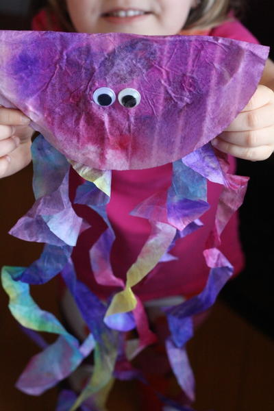 Jumpin Jellyfish Coffee Filter Craft