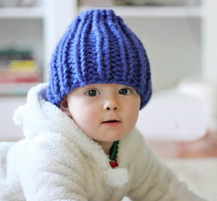 Free Baby Knitting Patterns Only : Blueberry Fields Baby Hat AllFreeKnitting.com