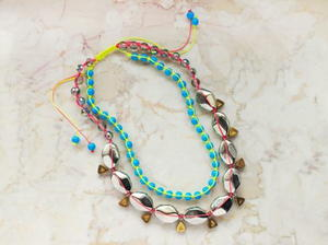 Trendy Neon Macrame Necklace