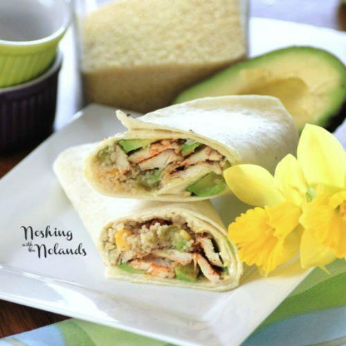 Easy Chicken Couscous Wraps