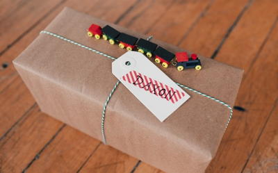 Toy Train Gift Wrapping Ideas