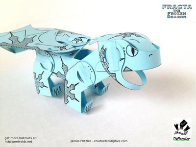 Fracta the Dragon Paper Toy