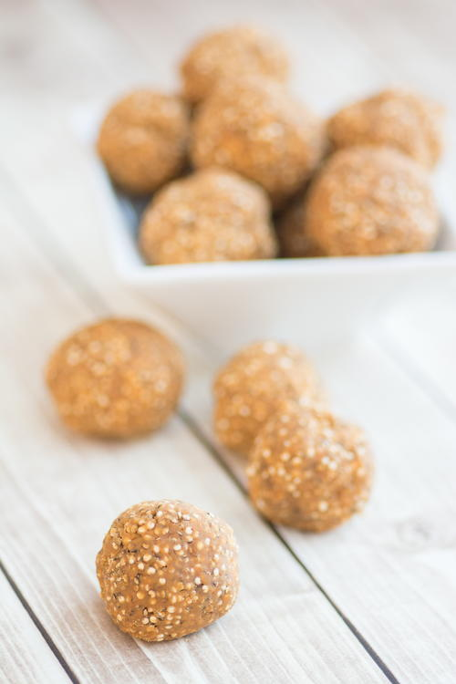 Protein Packed Peanut Butter  Quinoa Balls