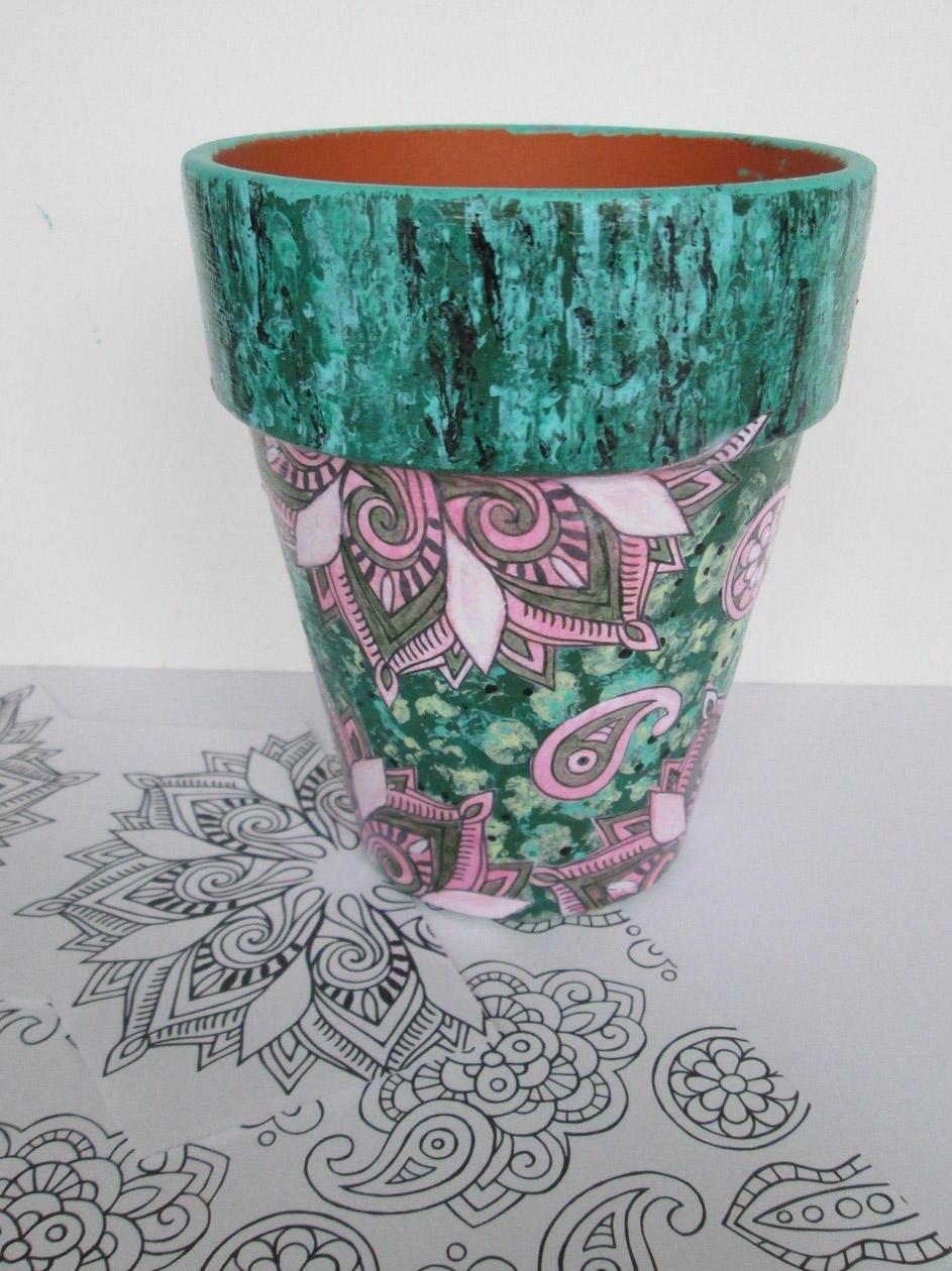 Decoupaged Flower Pot Crafts Favecrafts Com