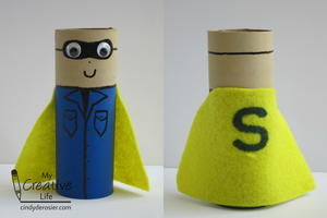 Super Scout Cardboard Tube Craft