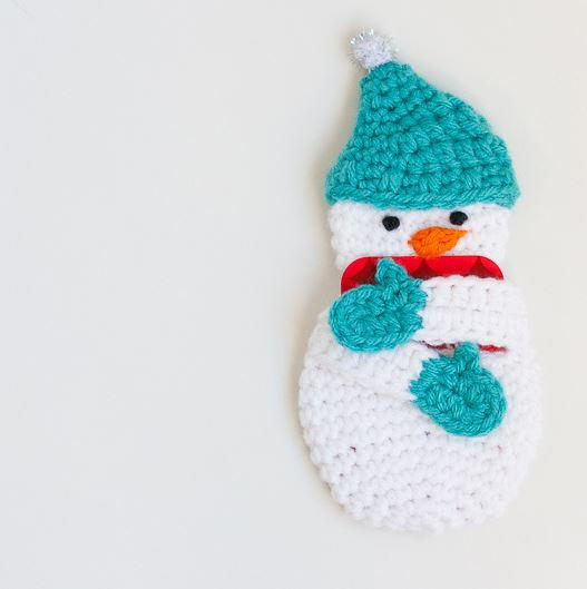 DIY Gift Card Holder Snowman Craft