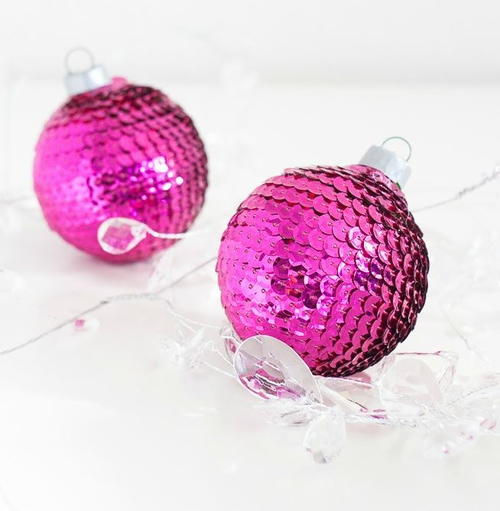 Simple Sequin Homemade Christmas Ornaments