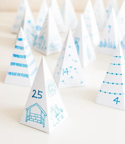 Triangle Box Christmas Advent Calendar