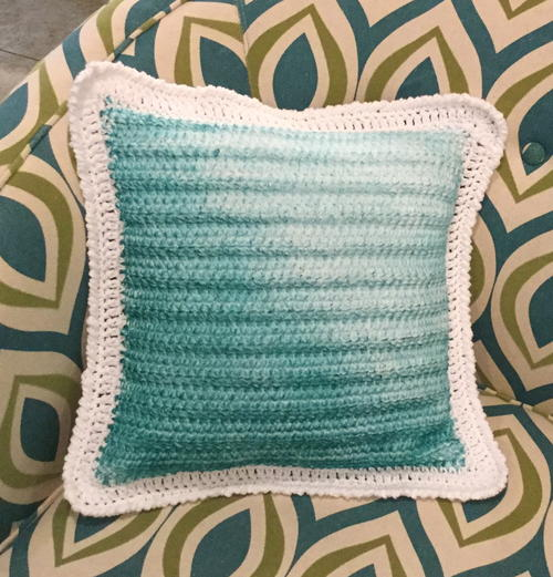 Tinted Crochet Pillow