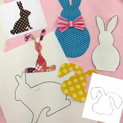 5 Bunny Applique Templates