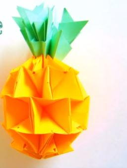 Tropical Origami Pineapple
