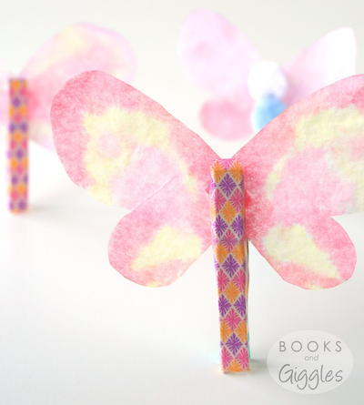 Spring Butterfly Clothespin Craft