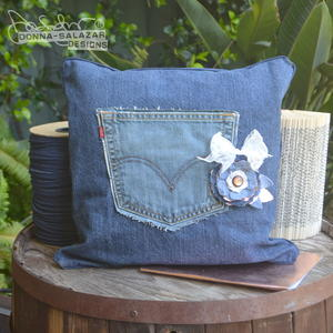 Denim Pocket Pillow