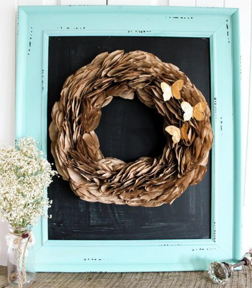 Golden Butterfly DIY Wreath
