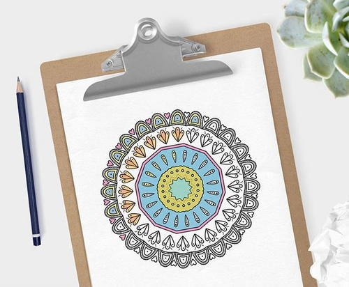Relaxing Mandala Coloring Pages