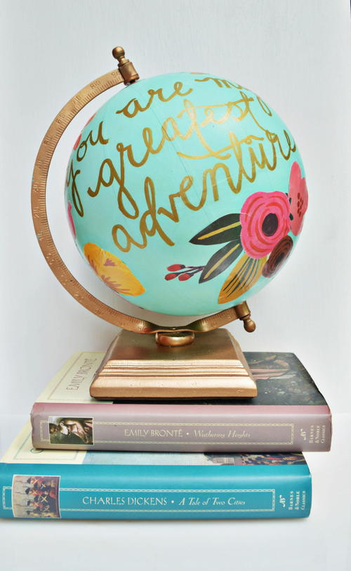 Decorative Globe Anthropologie Knock-Off