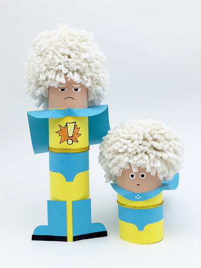 Superhero Paper Tube Doll