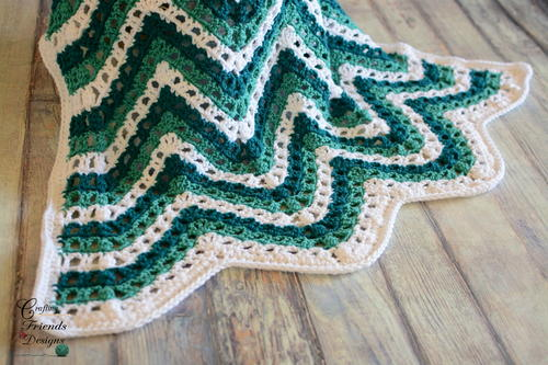 Sea Breeze Chevron Afghan