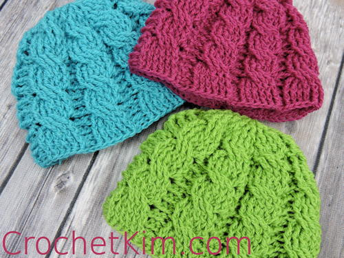 Newborn Cable Crochet Beanie  40350f3f7fc