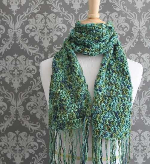 seascape scarf crochet pattern allfreecrochet