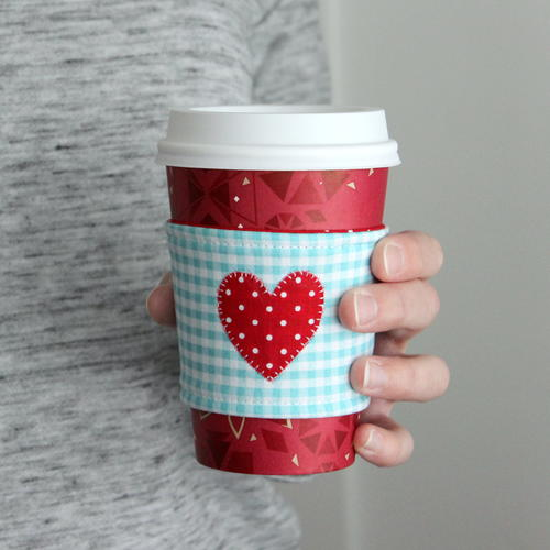 I Heart Coffee Cozy Tutorial Allfreesewing Com