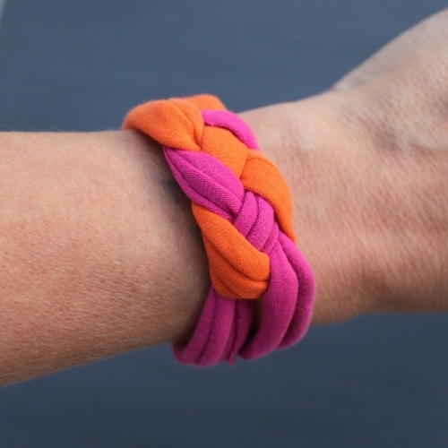 Recycled Clothing DIY Bracelet