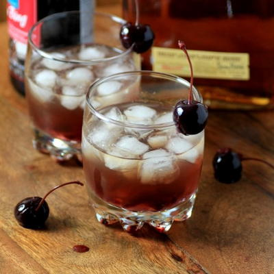 Bourbon Cherry Smash