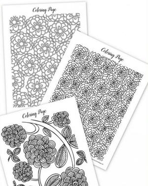 spring coloring sheets for adults - Coloring Book Pages For Adults