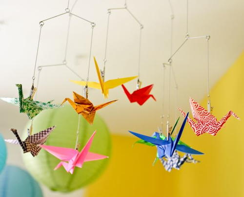 Easy Origami Paper Crane DIY Mobile