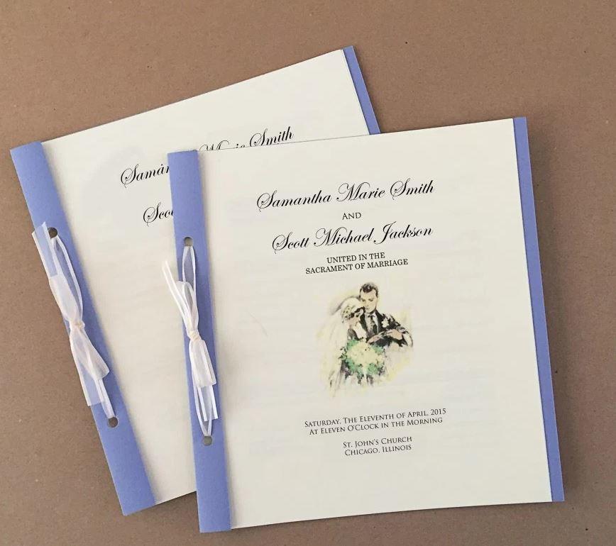 DIY Wedding Programs | AllFreePaperCrafts.com