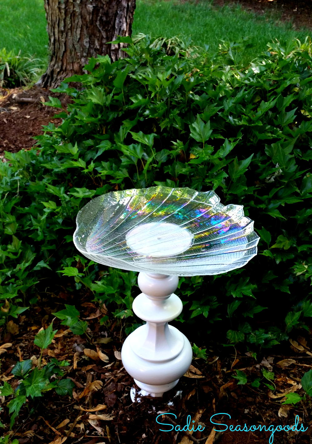 Bright Idea Recycled Birdbath Allfreeholidaycrafts Com