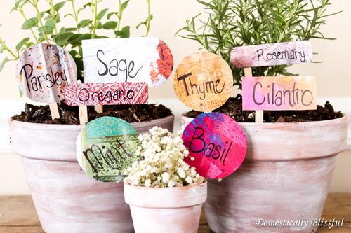 Anthropologie-Inspired DIY Garden Markers ...